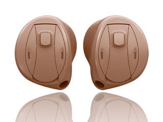 A pair of in the ear (ITE) hearing aids